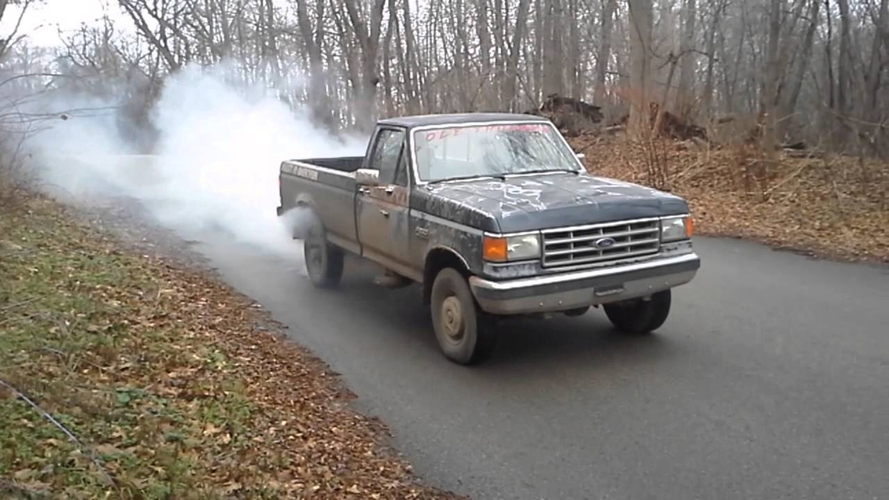 1988 Ford F250 >> 1988 Ford F-250 Burnout - YouTube