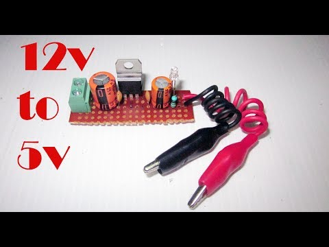 How to make a 12V to 5V Converter using 7805 IC