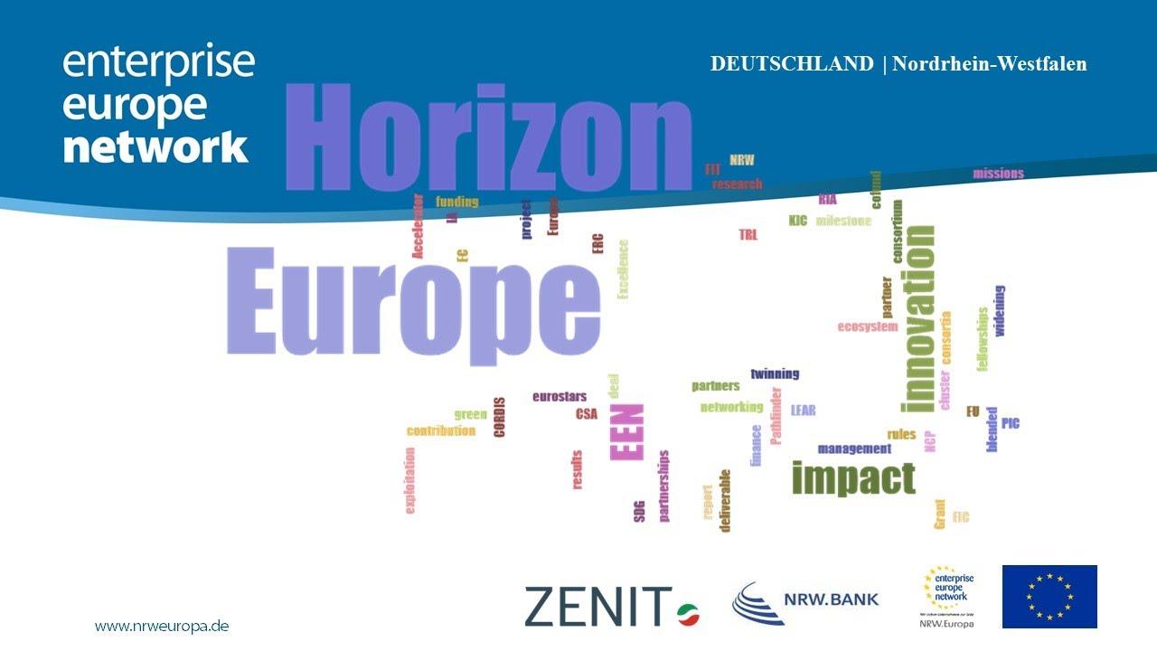 Download Enterprise Europe Network NRW stellt vor: Horizont Europa - Horizon Europe - HorizonEU