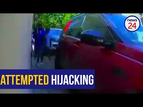 WATCH: Joburg woman narrowly escapes would-be hijackers