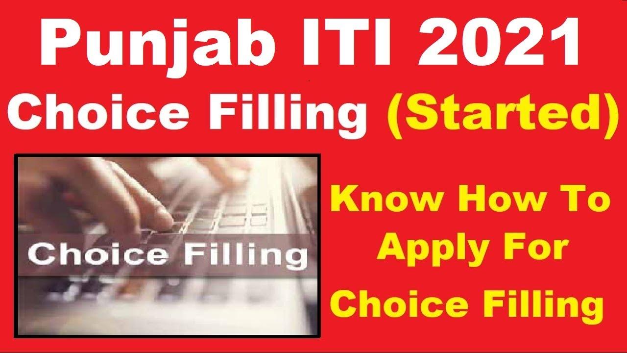 Punjab ITI 2021 Choice Filling (Started) - Steps to Apply For Punjab ITI Choice Filling 2021