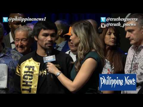 Manny Pacquiao's Final Interview For Vargas