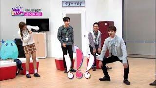 [ENG]Shinee dancing to korean tongue twister Kim so han moo - Tvchosun
