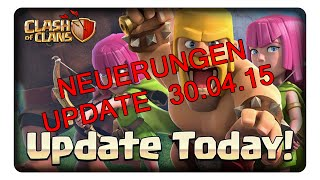 ✫ UPDATE CLASH OF CLANS 30.04.2015 ✫ || CLASH OF CLANS | Let's Play CoC | Deutsch | German