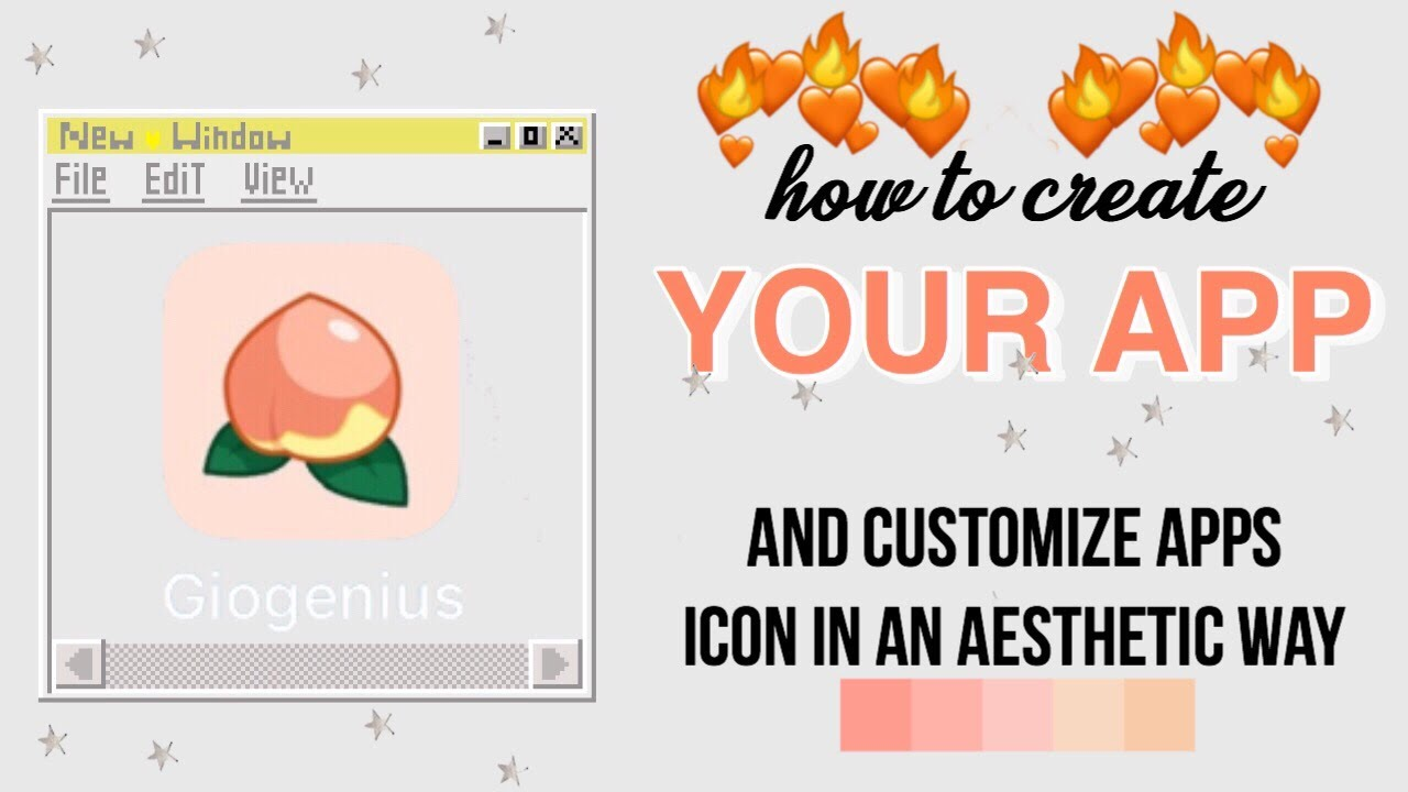 How To Create Your App And Customize Apps Icon In An Aesthetic Way Youtube