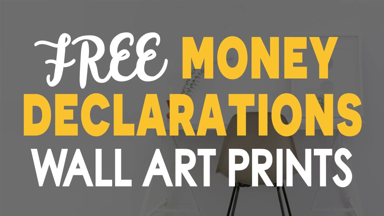 51 Free Art Prints of MONEY DECLARATIONS - Tools for Changing Your ...