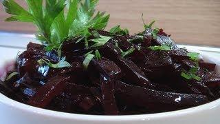 Салат из свеклы видео рецепт. Книга о вкусной и здоровой пище