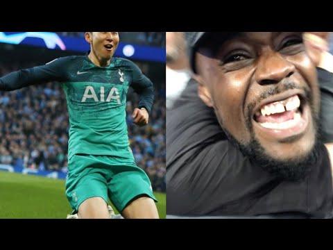 SON HEUNG MIN SCORES A BRACE! 손흥민 BOTH FANS KICK OFF| Man City (4) vs Tottenham (3) EXPRESSIONS VLOG