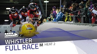Whistler   BMW IBSF World Cup 2017/2018 - 4-Man Bobsleigh Heat 2   IBSF Official