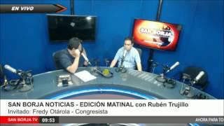 Entrevista con Ruben Trujillo en Radio San Borja