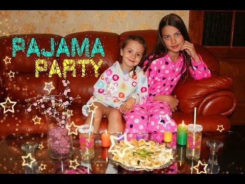 Repeat Пижамная вечеринка с Асей и Таей / Шарики с сюрпризами / Pajama party with Asya and Taya by Liya Odesskaya -