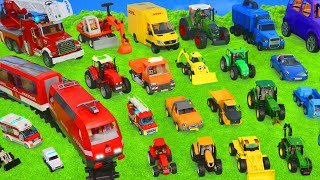 Excavator, Fire Truck, Police Cars, Garbage Trucks, Tractor Toy Vehicles for Kids