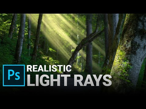 Add Realistic Light Rays With Adobe Photoshop (Brush In Description)