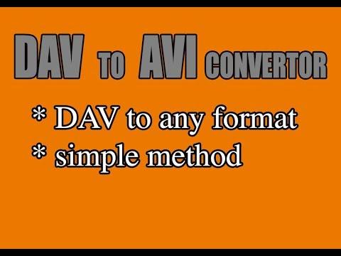 DAV File Converter - Simple Method