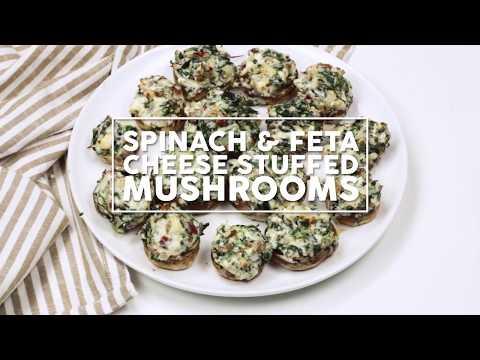 Spinach And Feta Cheese Stuffed Mushrooms Recipe
