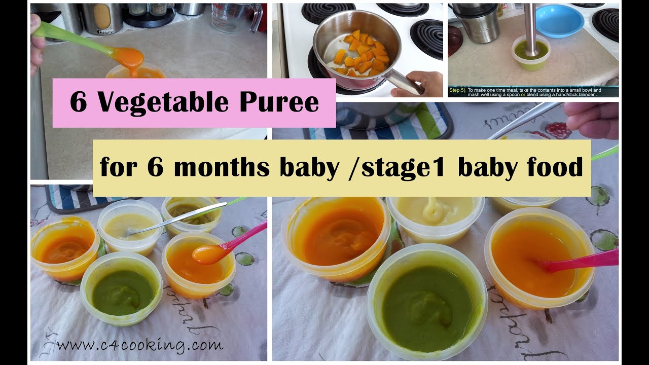 6 Vegetable Puree For Months Baby