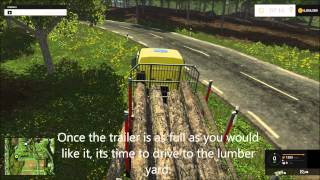 Farming Simulator 2015 - How to use the Scorpion King, Logging wood