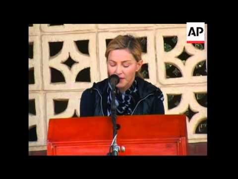 Madonna and family visit orphans and projects in Malawi