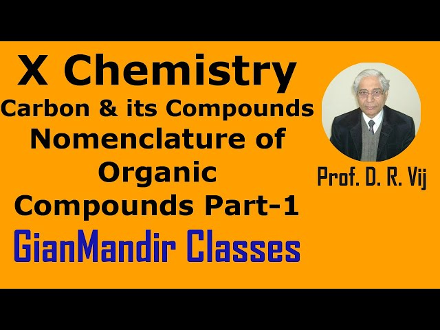 X Chemistry | Carbon and its Compounds | Nomenclature of Organic Compounds Part-1 by Gaurav Sir