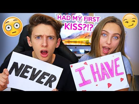 NEVER HAVE I EVER WITH MY LITTLE SISTER *FIRST KISS* GeorgeMasonTV