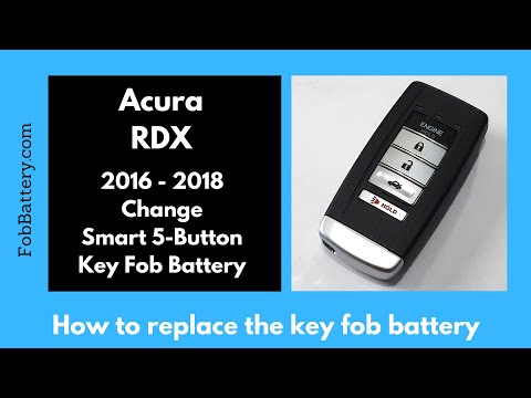 Acura RDX Key Fob Battery Replacement (2016 – 2018)