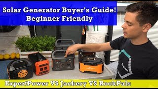 Micro Solar Generator Buyer's Guide! Jackery vs Rockpals vs Expertpower
