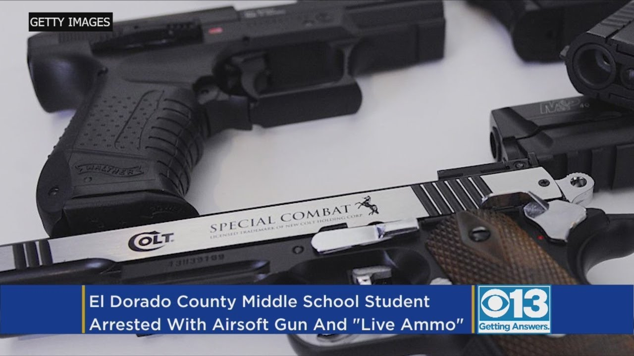 Student Arrested For Bringing Airsoft Gun To School In Placerville