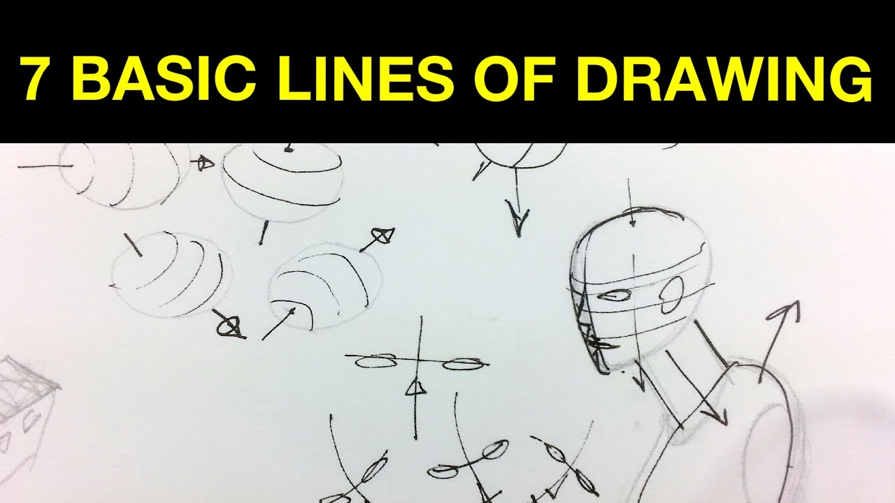 7 basic lines of drawing youtube