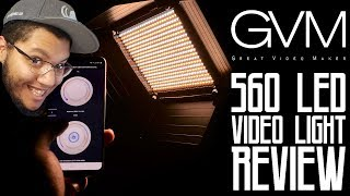 GVM 560 LED Video Light - Features and Review (Dizzy)