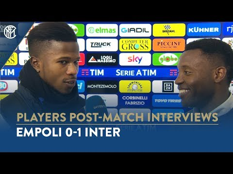 EMPOLI 0-1 INTER | KEITA BALDE INTERVIEW: 'We are aiming high because we are Inter'