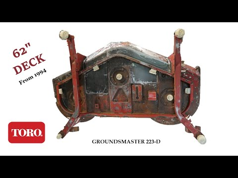Painting LAWN MOWER DECK From Old Toro Groundsmaster 223-D