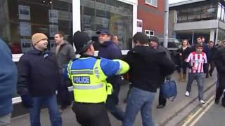 Southampton vs Pompey Hooligans - Trouble before & after game