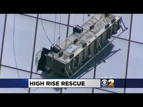 Hearts Pound As Window Washers Are Rescued From 68th Floor Of 1 WTC