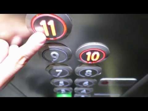 two Kone EcoDisc elevators@hotel Steel House, Trinec, Czech republic