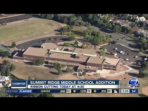 Summit Ridge Middle School ribbon cutting for new addition