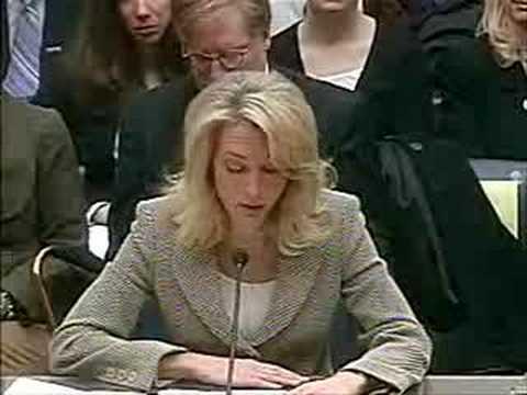 Valerie Plame testifies in CIA leak hearings (part 1)