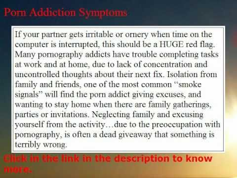 signs Porn symptoms addiction and