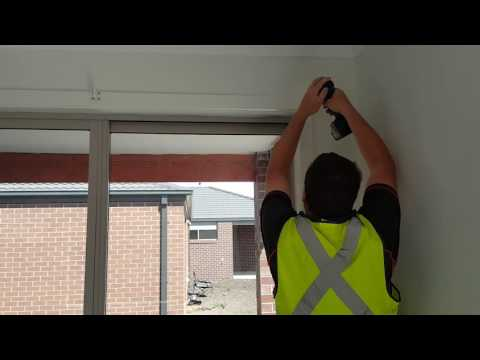 Roller Blind Installation for Face fit Sliding door