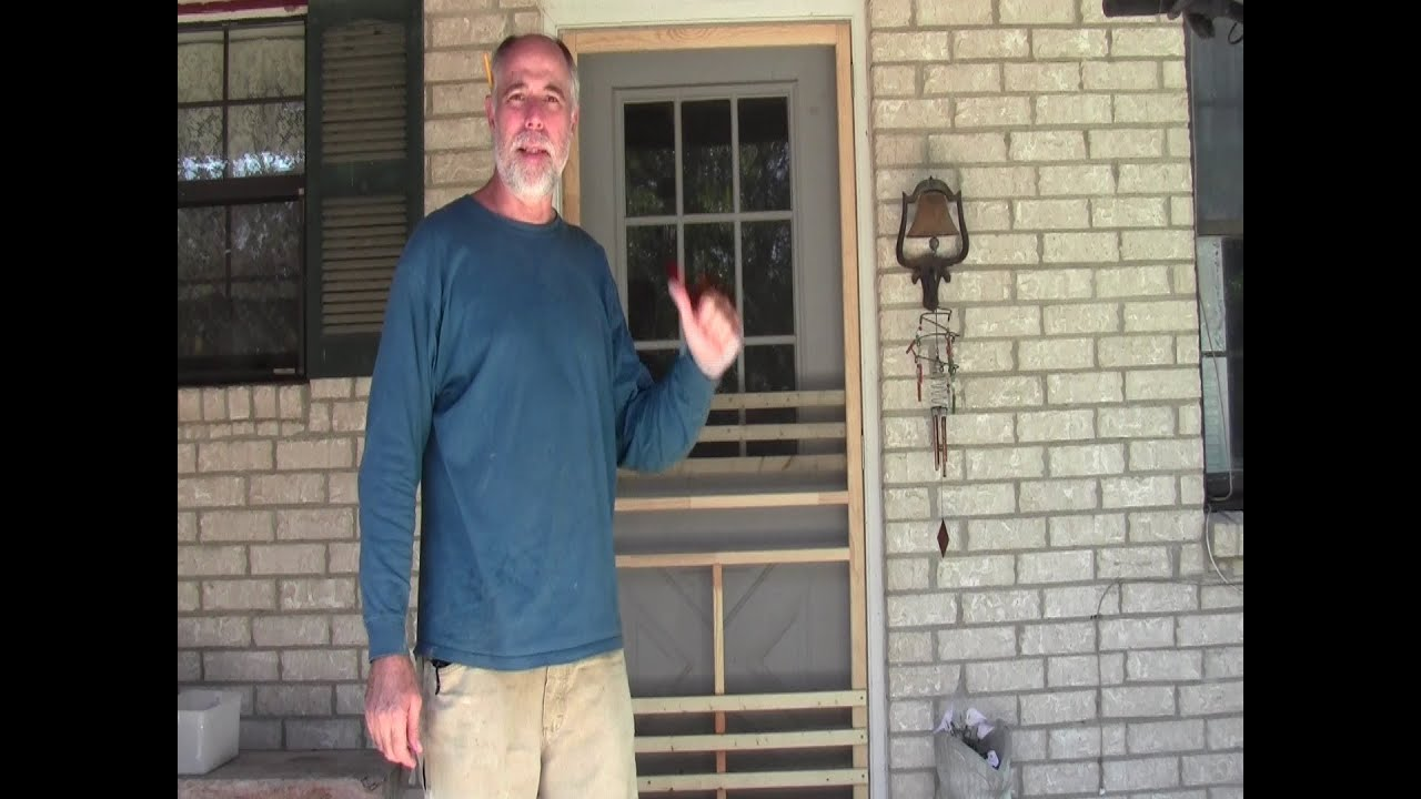 Screen Door Install (Inexpensive wood) - YouTube