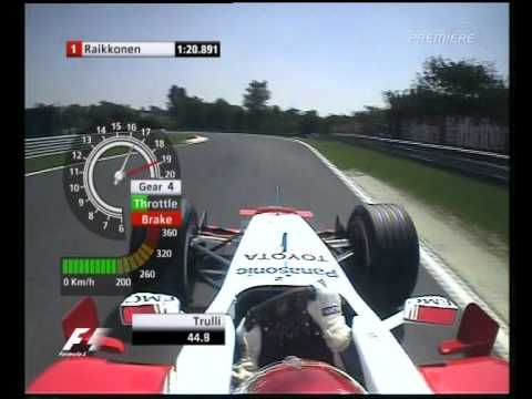 F1 Hungary 2005 Qualifying - Jarno Trulli Lap