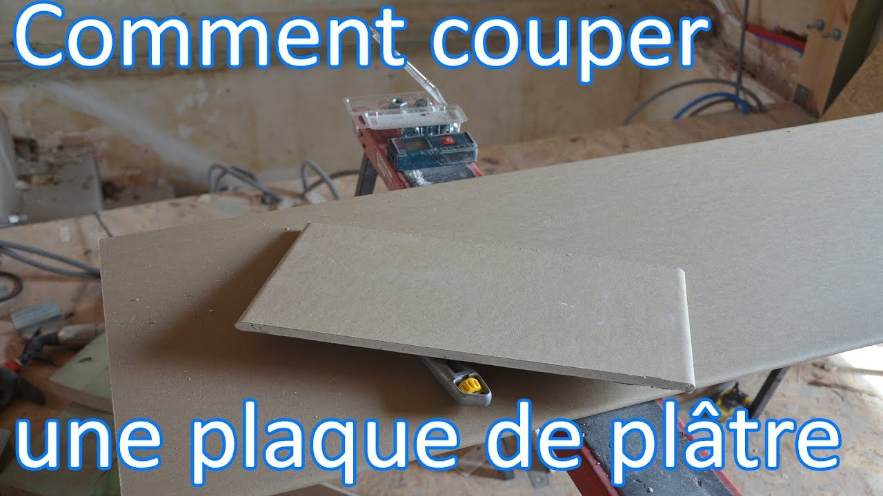 couper une plaque de pl tre m thode simple youtube. Black Bedroom Furniture Sets. Home Design Ideas