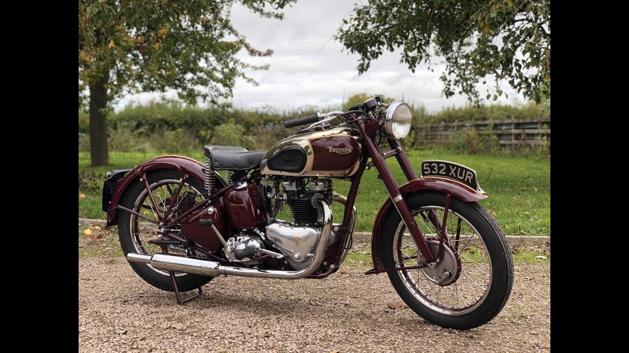 Post War 1945 Triumph Speed Twin 500cc For Sale Youtube