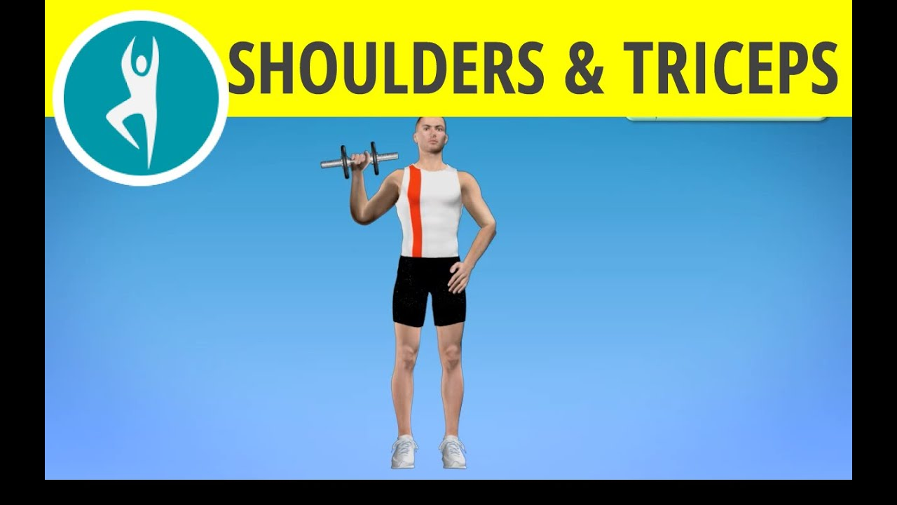 Triceps And Shoulder Workout With Weights One Arm Dumbbell Press