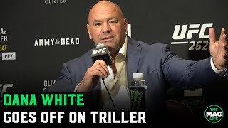 "Dana White goes off on ""f***ing idiots"" Triller and Oscar De La Hoya: 'I don't give a s***"""