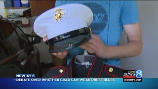 Marine High school said to change out of uniform before ceremony