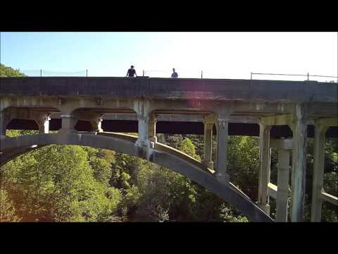 Drone flyover at Green River Bridges, Hendersonville NC