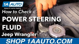 How to check power steering fluid 06-18 Jeep Wrangler