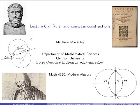 Visual Group Theory, Lecture 6.7: Ruler and compass constructions