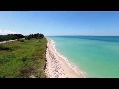 Campeche Beachfront Property taken by drone