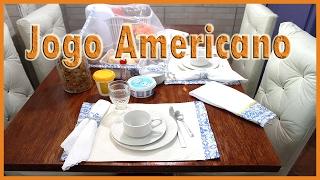 Jogo americano para chá ou café + Cestinho para pão e mesa posta